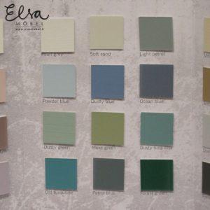 vihreän ja sinisen kalkkimaali värimallit