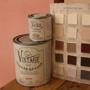 Rosa nyanser av kalkfärgen VIntage Paint