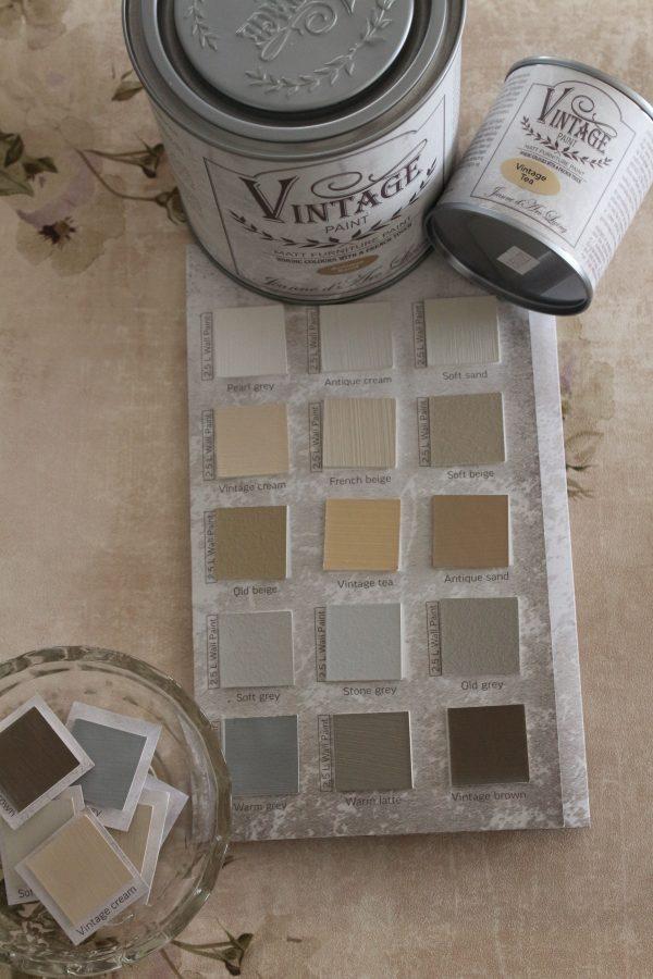 Jordnära nyanser av kalkfärgen VIntage Paint