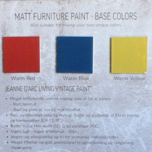 Kalkkimaali Vintage Paint perus värisävyt, punainen sininen keltainen