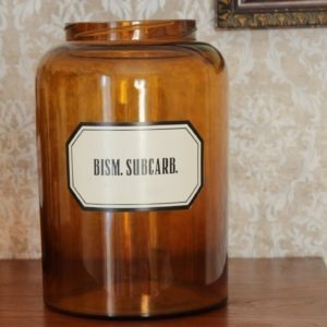 Gammal apoteksburk brunt glas karhula
