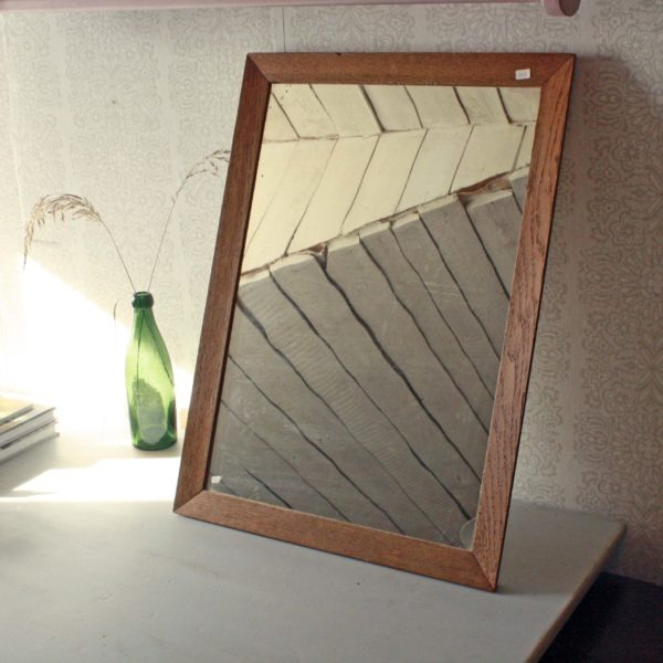 spegel med träsam i solen