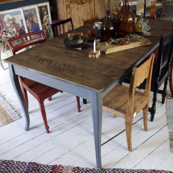 harmaat pöydänjalat